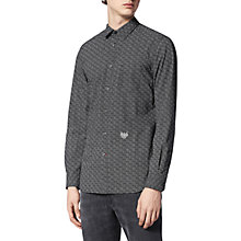 Buy Diesel S-Dunes Micro Print Poplin Shirt, Black Online at johnlewis.com