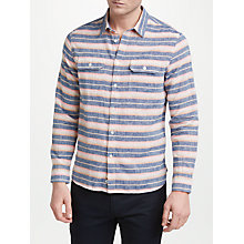 Buy Penfield Hammat Linen Cotton Stripe Shirt, Navy Online at johnlewis.com