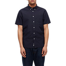 Buy Penfield Retford Printed Short Sleeve Shirt, Navy Online at johnlewis.com