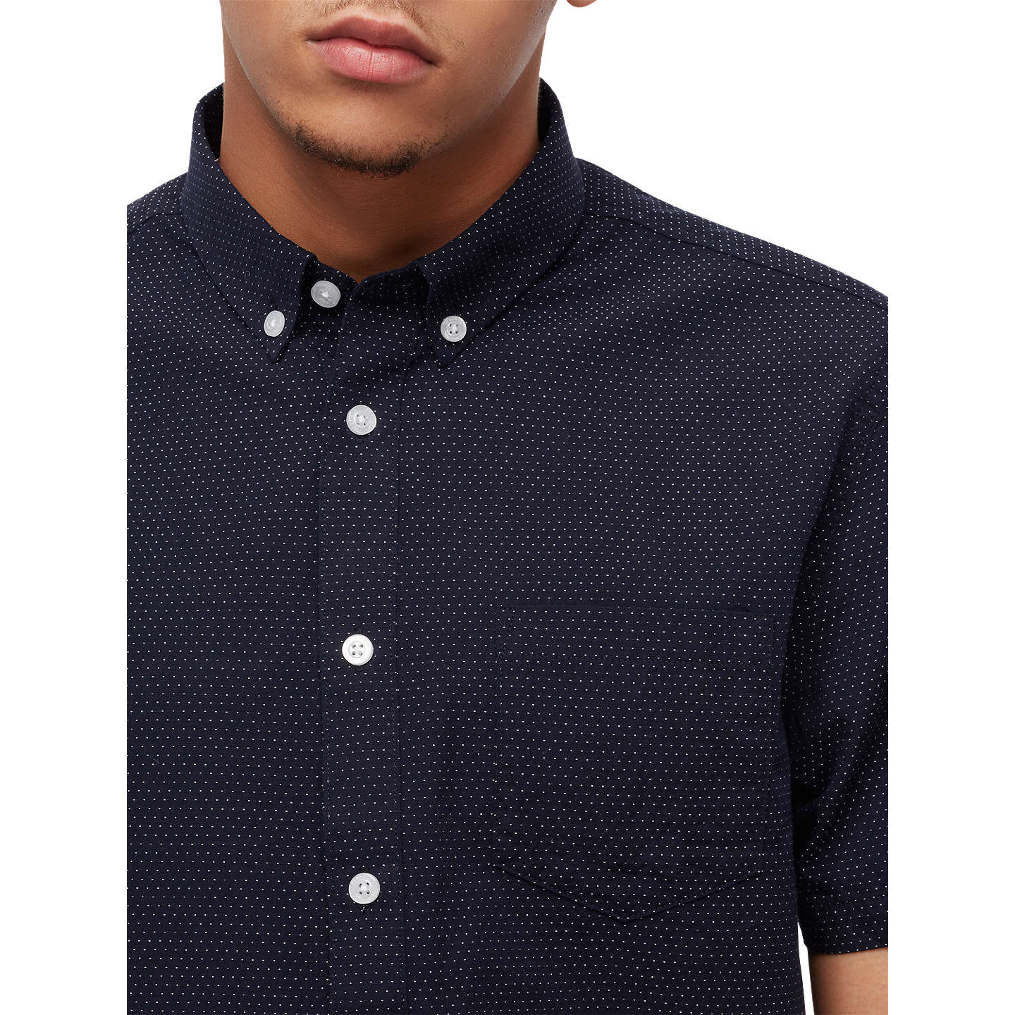 BuyPenfield Retford Printed Short Sleeve Shirt, Navy, S Online at johnlewis.com