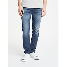 Buy Diesel Thommer Skinny Fit Stretch Jeans, Blue 84MW Online at johnlewis.com