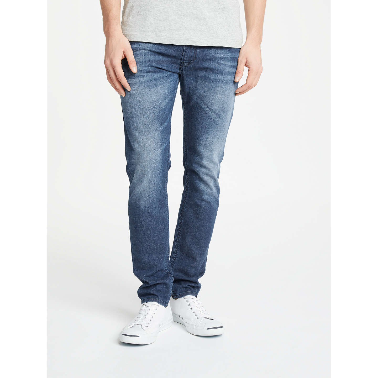 BuyDiesel Thommer Skinny Fit Stretch Jeans, Blue 84MW, 32S Online at johnlewis.com