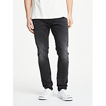 Buy Diesel Tepphar Tapered Denim Jeans, Black 084NG Online at johnlewis.com