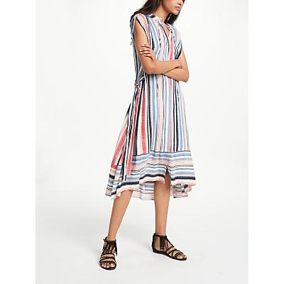 AND/OR Alma Printed Vertical Stripe Dress, Multi