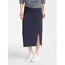 Buy Collection WEEKEND by John Lewis Midi Jersey Skirt, Navy Online at johnlewis.com