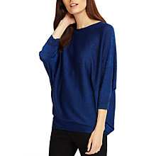 Buy Phase Eight Becca Batwing Shimmer Jumper, Cobalt Online at johnlewis.com