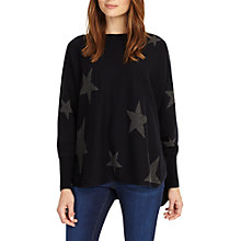 Buy Phase Eight Star Jacquard Jumper, Navy Online at johnlewis.com