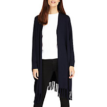 Buy Phase Eight Tassel Hem Cardigan, Navy Online at johnlewis.com