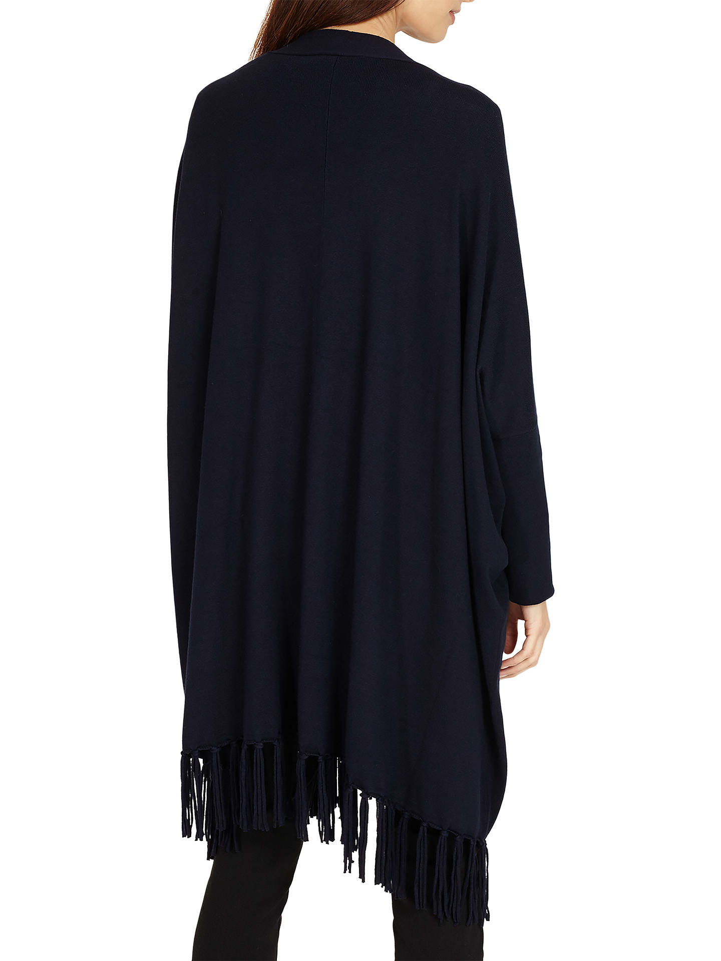BuyPhase Eight Tassel Hem Cardigan, Navy, XS Online at johnlewis.com