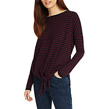 Buy Phase Eight Jolanda Stripe Knit, Navy/Wine Online at johnlewis.com