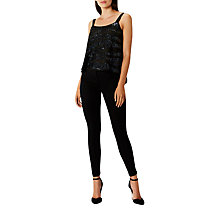 Buy Coast Sparkle Beaded Camisole, Black Cherries Online at johnlewis.com