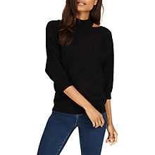 Buy Phase Eight Colletta Statement Neck Batwing Jumper, Black Online at johnlewis.com