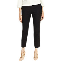 Buy Phase Eight Claudia Jacquard Cropped Trousers, Black Online at johnlewis.com