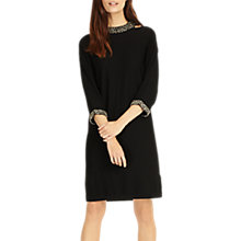 Buy Phase Eight Elle Embellished Choker Knitted Dress, Black Online at johnlewis.com