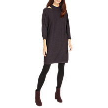 Buy Phase Eight Colletta Cut Neck Dress, Charcoal Online at johnlewis.com