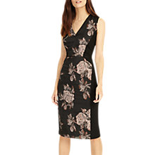 Buy Phase Eight Narissa Jacquard Dress, Black/Rose Gold Online at johnlewis.com