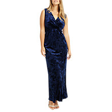 Buy Studio 8 Katie V Neck Sleeveless Velvet Maxi Dress, Midnight Online at johnlewis.com