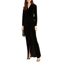 Buy Phase Eight Valeria Velvet Maxi Dress, Black Online at johnlewis.com