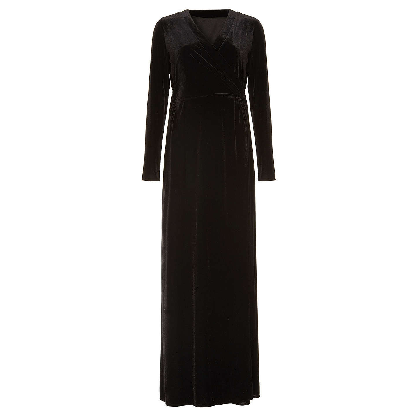 BuyPhase Eight Valeria Velvet Maxi Dress, Black, 6 Online at johnlewis.com