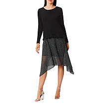 Buy Coast Sena Stripy Skirt, Gun Metal Online at johnlewis.com