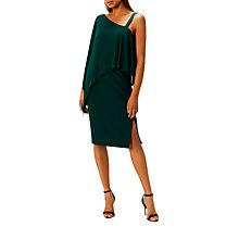 Buy Coast Rae Drape Dress, Forest Online at johnlewis.com