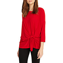 Buy Phase Eight Tris Tie Front Top, Sangria Online at johnlewis.com