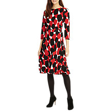 Buy Phase Eight Evie Spot Dress, Red/Black Online at johnlewis.com
