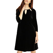 Buy Phase Eight Zoe Velvet Cutwork Dress, Black Online at johnlewis.com