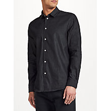 Buy Samsoe & Samsoe Liam NX Shirt, Washed Black Online at johnlewis.com