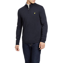 Buy Lyle & Scott Quarter Zip Long Sleeve Jumper, Dark Navy Online at johnlewis.com