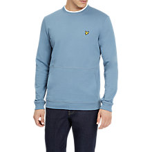 Buy Lyle & Scott Pocket Long Sleeve Sweatshirt, Mist Blue Online at johnlewis.com