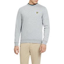 Buy Lyle & Scott Fleck Long Sleeve Sweatshirt, Mid Grey Marl Online at johnlewis.com