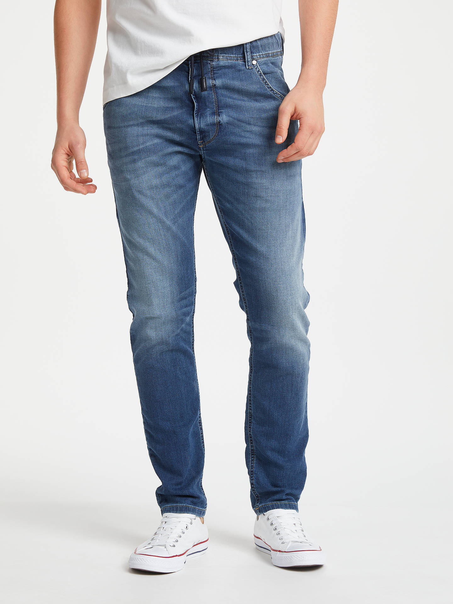 243ec981 Buy Diesel Krooley R Carrot Jogg Jeans, Blue 0687C, 28R Online at johnlewis.