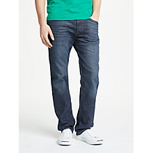Buy Diesel Waykee Straight Jeans, Blue 084NL Online at johnlewis.com