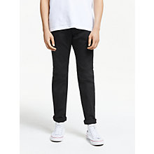 Buy Diesel Larkee-Beex Regular Straight Dark Denim Jeans, Black Online at johnlewis.com