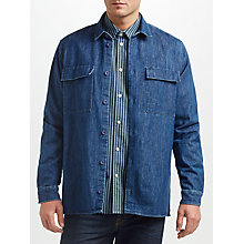 Buy Samsoe & Samsoe Marlon Denim Shirt, Rodeo Blue Online at johnlewis.com