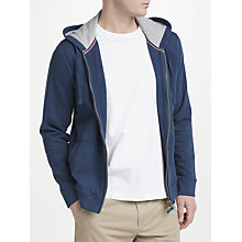 Buy John Lewis Cotton Full Zip Hoodie, Navy Online at johnlewis.com