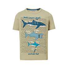 Buy John Lewis Boys' Shark Print T-Shirt, Elm Online at johnlewis.com