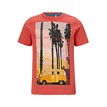 Buy John Lewis Boys' Camper Van Printed T-Shirt, Red Online at johnlewis.com