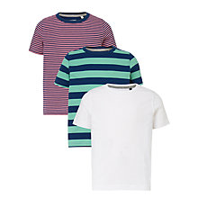 Buy John Lewis Boys' Stripe Plain T-Shirts, Pack of 3 Online at johnlewis.com