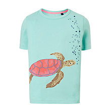 Buy John Lewis Boys' Turtle Graphic T-Shirt, Green Online at johnlewis.com