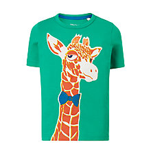 Buy John Lewis Boys' Giraffe Print T-Shirt, Green Online at johnlewis.com