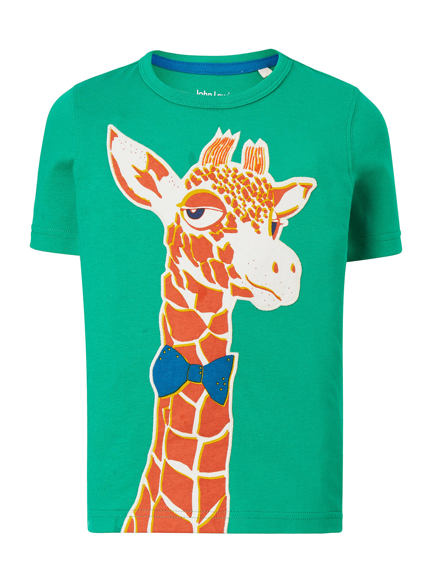 d9400e993764 John Lewis & Partners Boys' Giraffe Print T-Shirt, Green at John ...