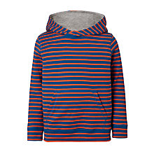 Buy John Lewis Boys' Double Stripe Hoodie, Blue Online at johnlewis.com