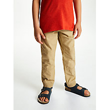 Buy John Lewis Boys' Woven Joggers, Beige Online at johnlewis.com