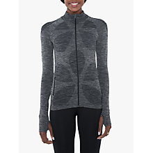 Buy Manuka Life Seamless Full Zip Jacket, Black Online at johnlewis.com