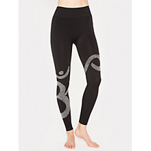 Buy Manuka Life Om Yoga Leggings, Black/Marl Online at johnlewis.com