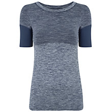 Buy Manuka Flow Yoga T-Shirt, Midnight Blue/Marl Online at johnlewis.com