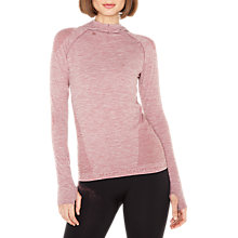 Buy Manuka Life Long Sleeve Yoga Hoodie, Rosehip Marl Online at johnlewis.com