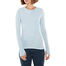 Buy Manuka Life Seamless Long Sleeve Top, Power Blue Marl Online at johnlewis.com